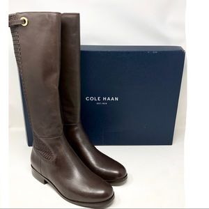 Cole Haan Simona Tall Riding Boot Java Brown